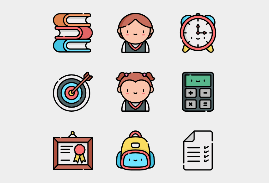 free school subject clipart, Cartoons - Education - Icons For Web Design