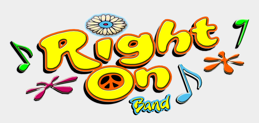 70's disco clipart, Cartoons - The Right On Band Is Known For Their Outlandish '70s - Right On 70s