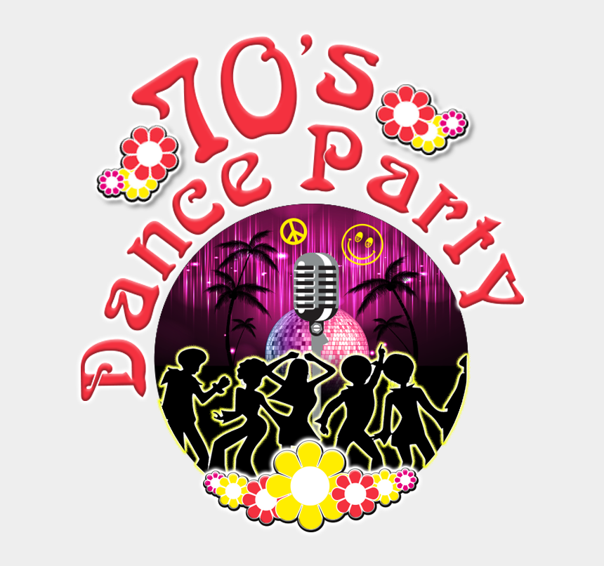 70's disco clipart, Cartoons - 70's Dance Party - Disco Party 70's Png