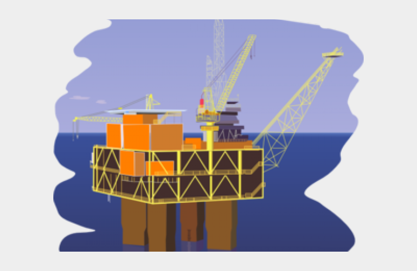 oil and gas clipart, Cartoons - Oil Rig Clip Art