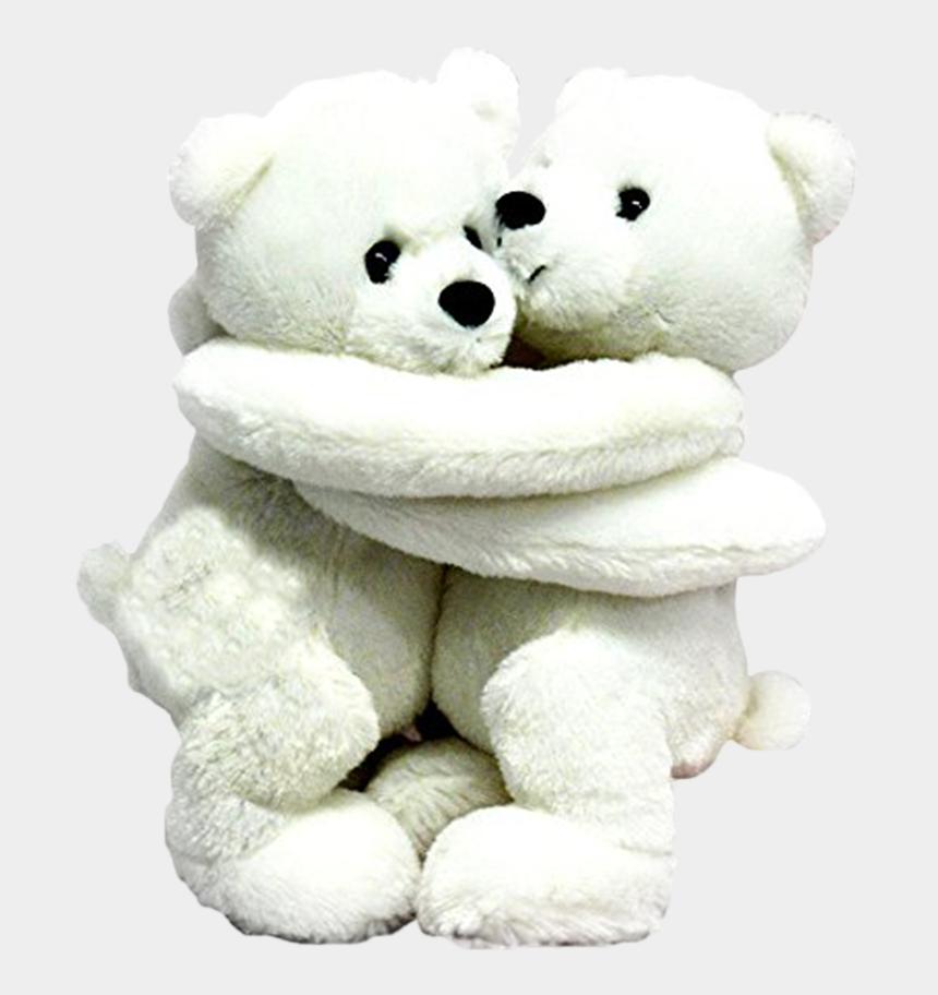 "clipart of stuffed animals, Cartoons - Wishpets 10"" Hugging Polar Bears Stuffed Plush Toy - Teddy Bear"
