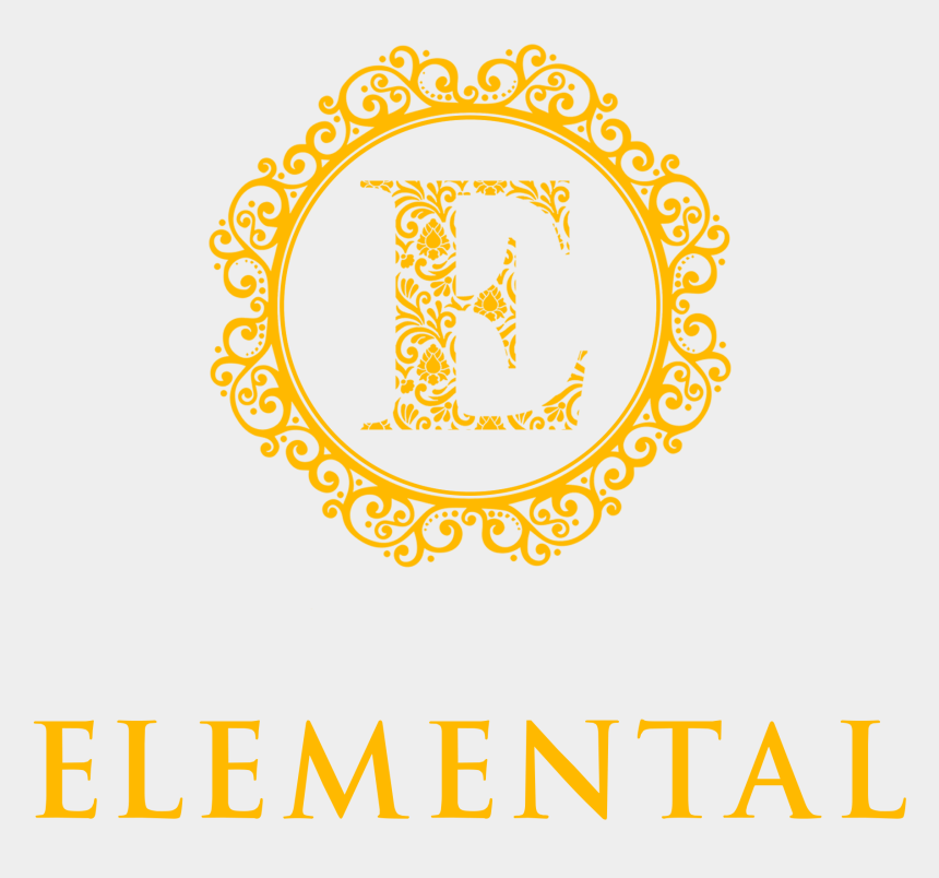 free watermark clipart, Cartoons - Elemental Circle Watermark - Round Design Line Art