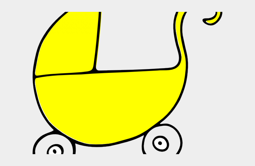 girlie clipart, Cartoons - Yellow Stroller Cliparts - Baby Shower For Girl Cutout