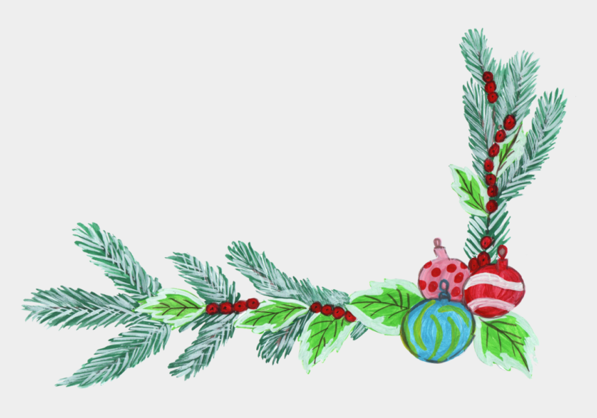 christmas corner border clipart, Cartoons - Corner Transparent Christmas - Christmas Corner Decorations Png