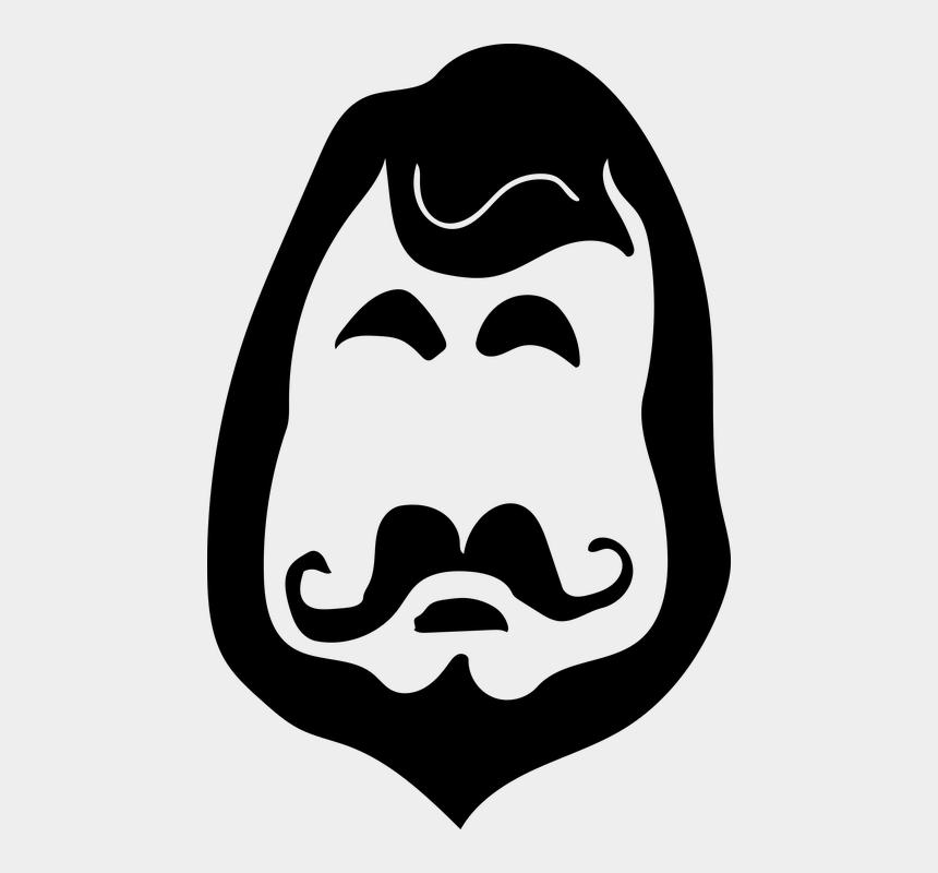 mustache and beard clipart, Cartoons - Beard Man Shaving Mustache Portrait Male Face
