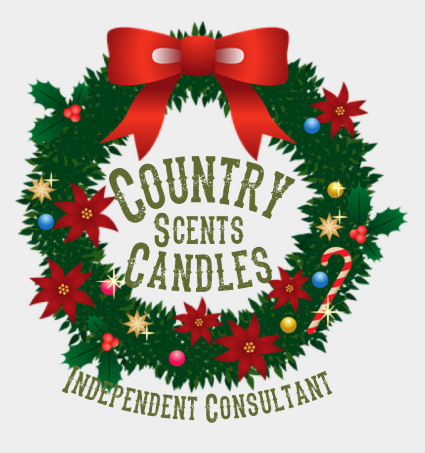 christmas gift certificate clipart, Cartoons - Country Scents Candles Is Not Responsible For Delivery - Ghirlanda Natale Clipart