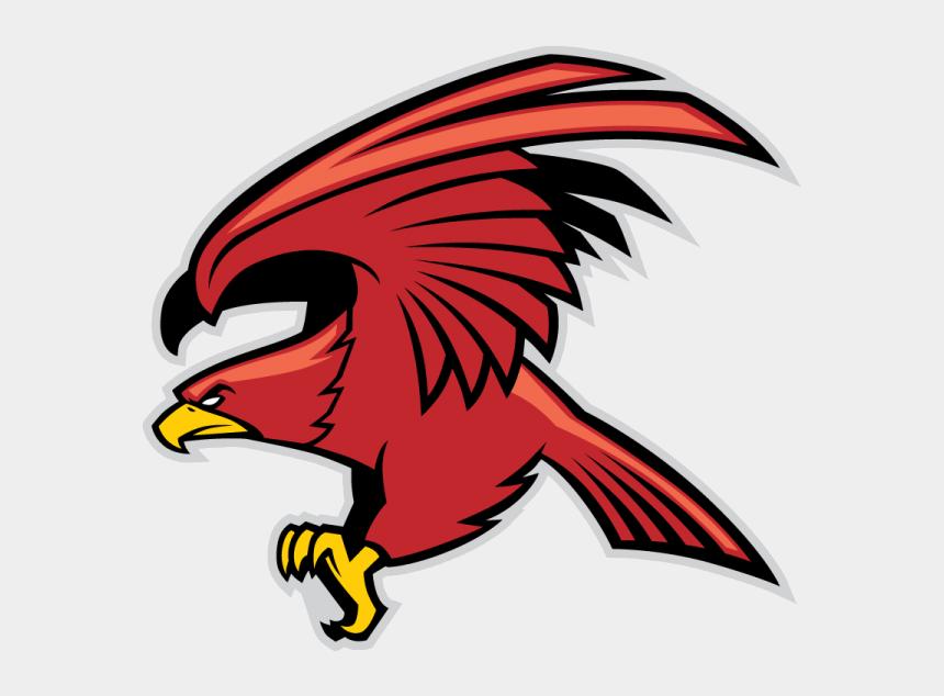 eagles mascot clipart, Cartoons - Red Eagle Mascot - Falcon Mascot