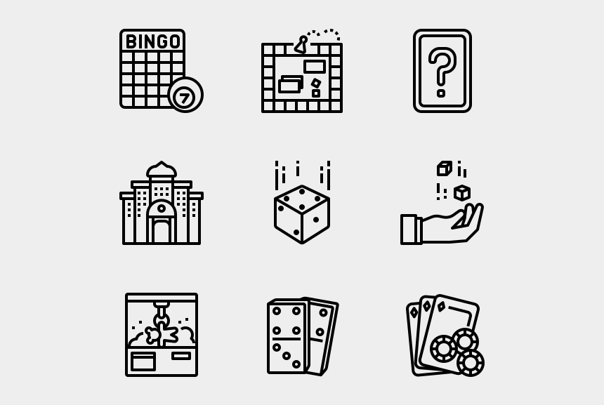 colored dominoes clipart, Cartoons - Gaming Gambling - Real Estate Icon Line