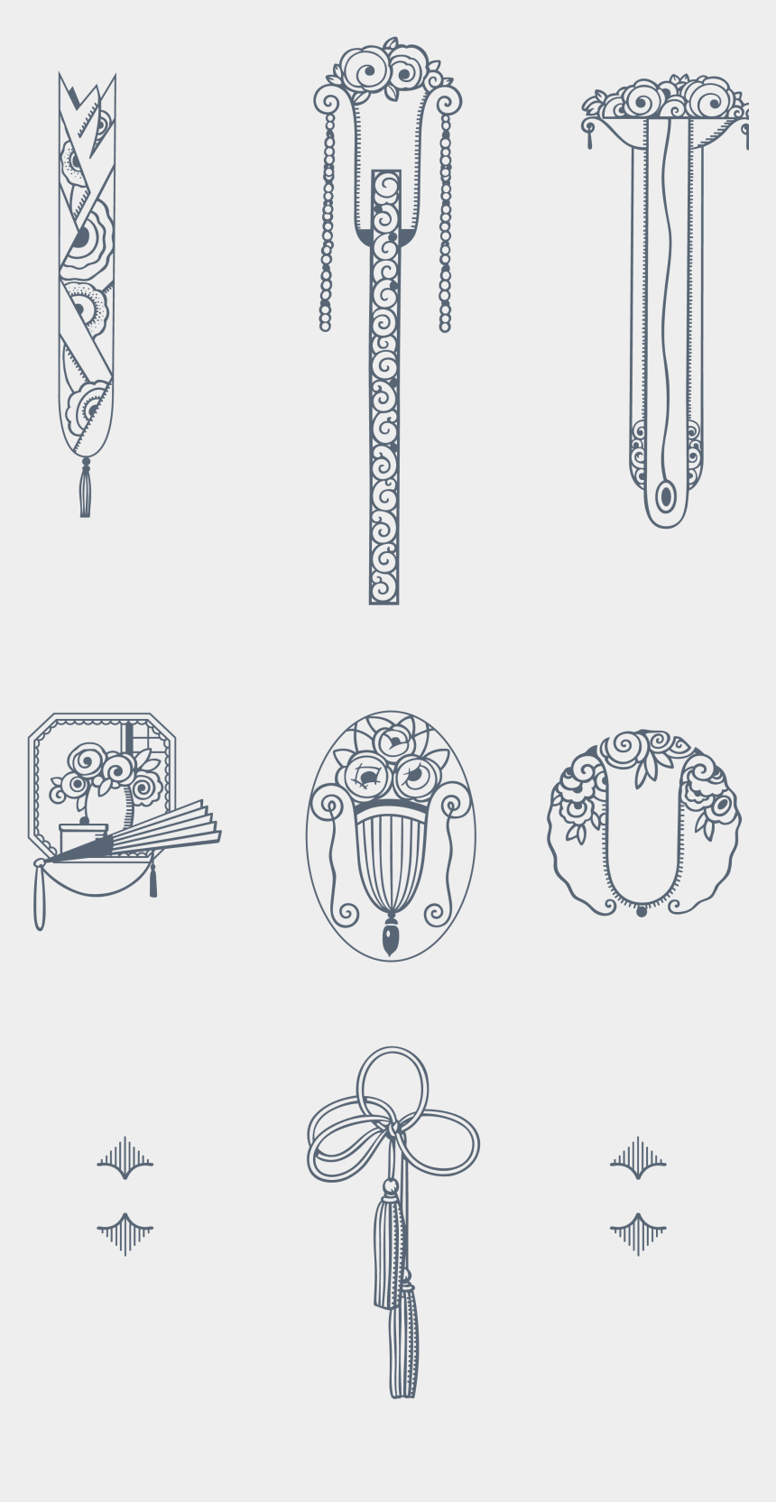 1920's border clipart, Cartoons - Download 170 Stylized Art Deco Illustrations And Ornaments, - Gold Art Deco Transparent
