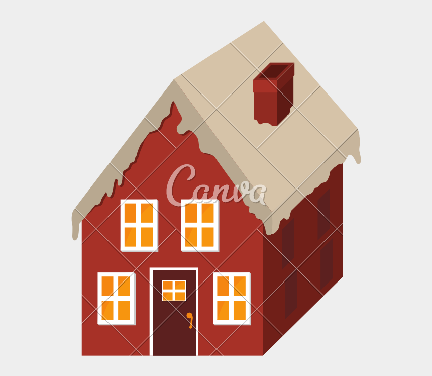 christmas houses clipart, Cartoons - Cottage Vector Christmas - House