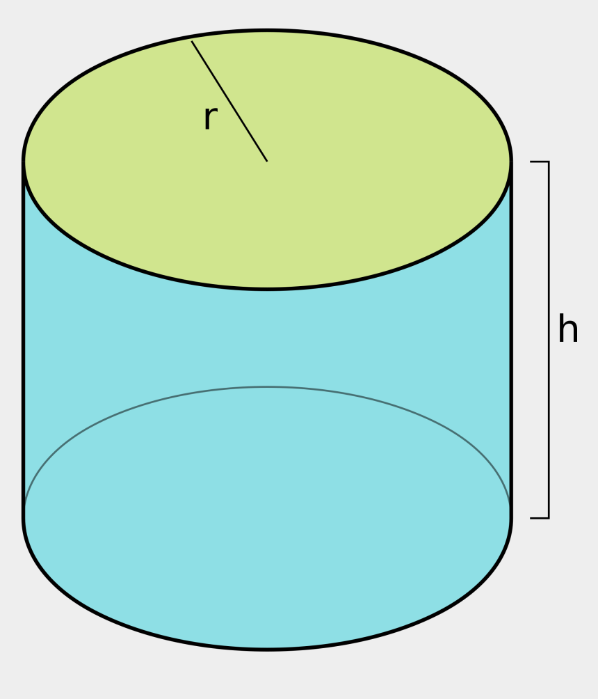 cylinder shape clipart, Cartoons - Cylinder Of Radius R And Height H = 2 Pi R2 2 Pi R*h - Circular Cylinder