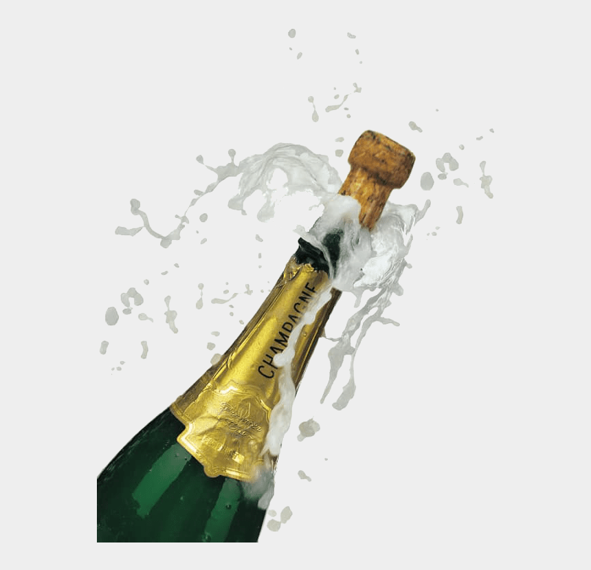 clipart champagne bottle popping, Cartoons - Champagne Popping - Champagne Bottle Popping Transparent