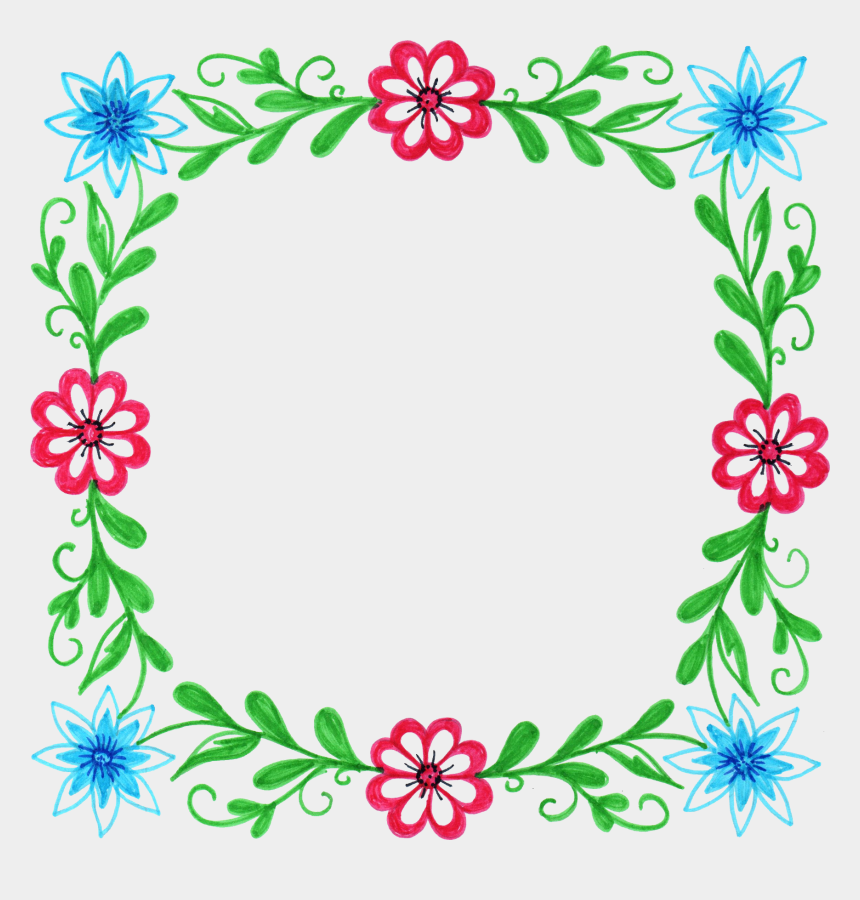 picture frame border clipart, Cartoons - Watercolour Flower Frame Border Clip Art Graphic Design - Frames Flower Design Png