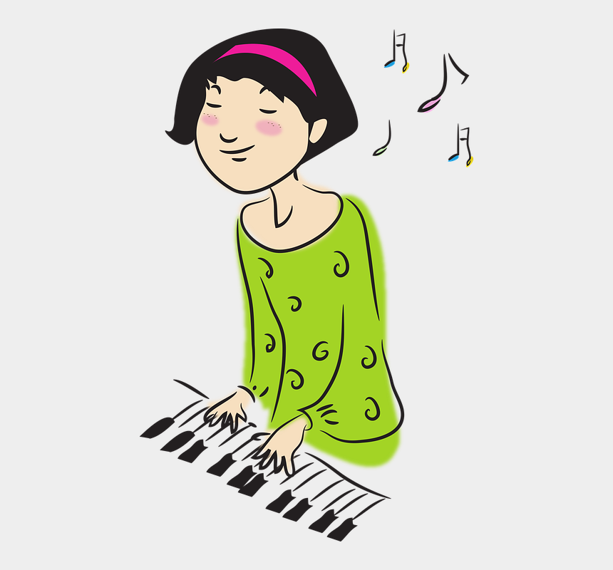 baby grand piano clipart, Cartoons - Clipart Piano Piano Performance - Playing An Instrument Cartoon