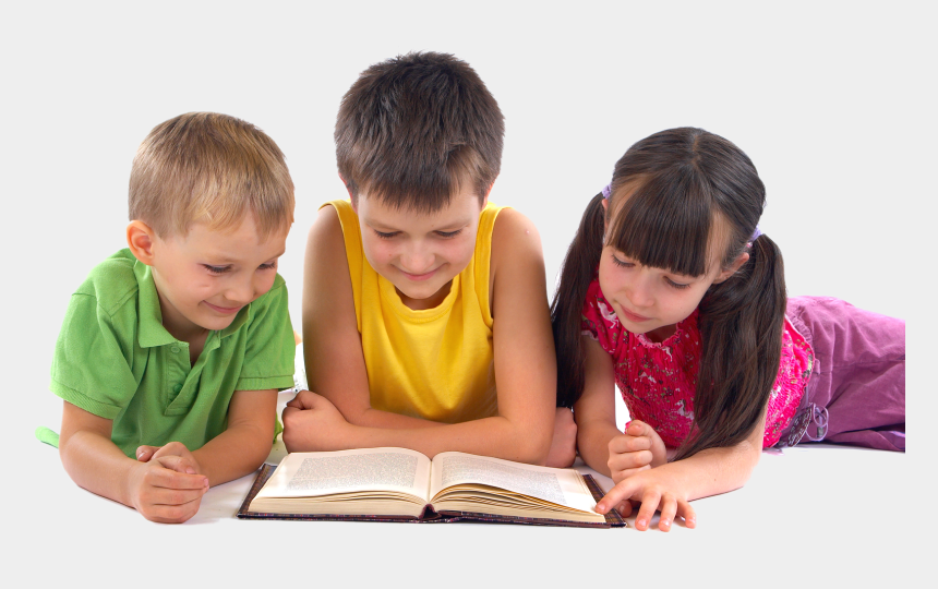 two kids reading clipart, Cartoons - Kids Reading Png - Children Reading A Book