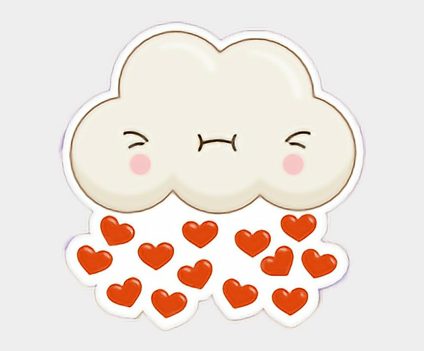 happy rain cloud clipart, Cartoons - #cloud #happy #excited #rain #love - Heart