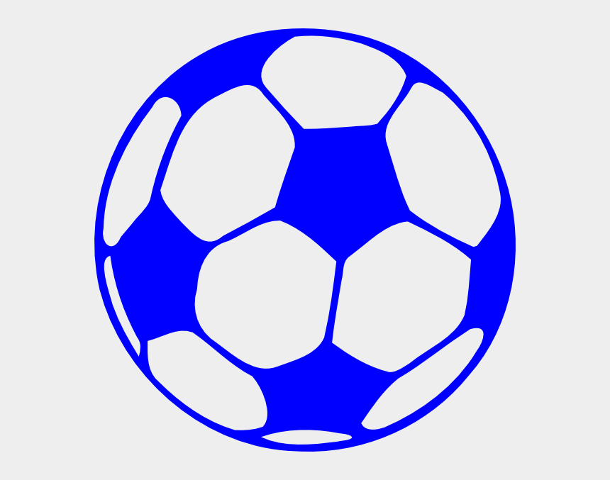 soccer dribbling clipart, Cartoons - Blue Soccer Ball Clipart