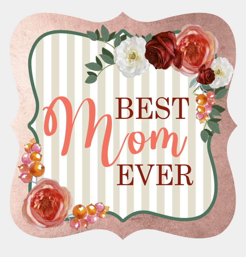 holiday gift tag clipart, Cartoons - Floral And Stripe Mothers Day Gift Tag - Mothers Day Tag Png
