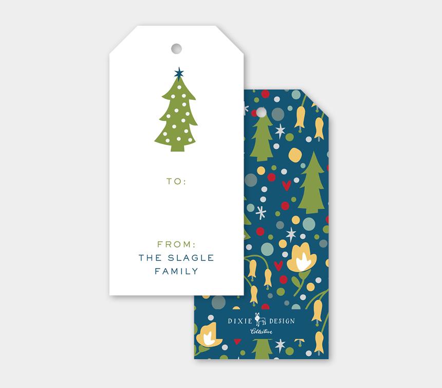 holiday gift tag clipart, Cartoons - Melimba Folk Christmas Tree Pattern Gift Tags Tag A - Christmas Tree