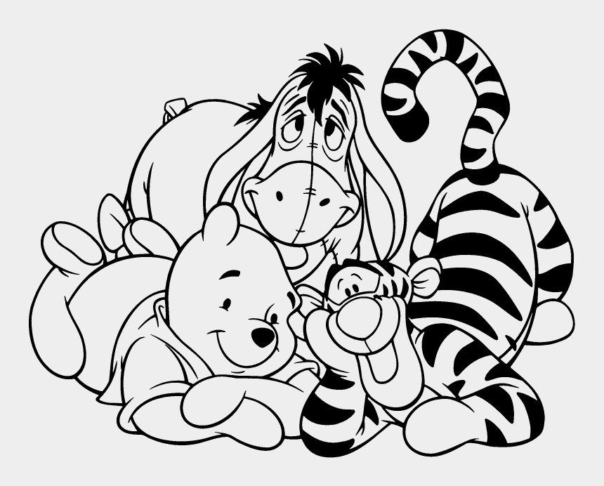 Pin Winnie The Pooh Clipart Black And White Dessin Winnie