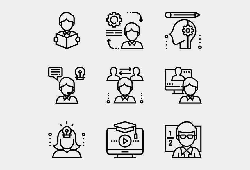 students line up clipart, Cartoons - Learning - Design Vector Icon