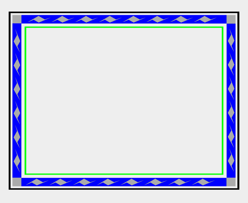 stock certificate clipart, Cartoons - Border Blue - Blue And Green Borders