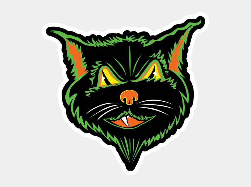 halloween black cats clipart, Cartoons - Black Cat Sticker - Cat