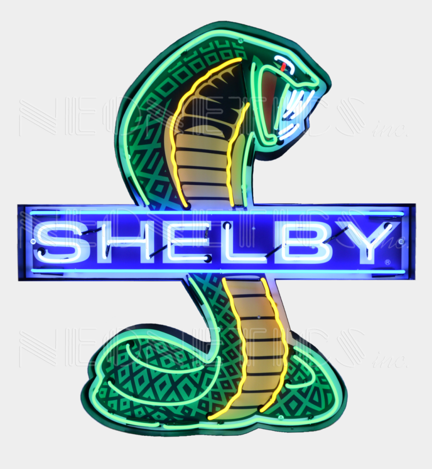 art deco marquee clipart, Cartoons - Shelby Cobra Neon Sign In Shaped Steel Can 9shlby - Shelby Neon Sign