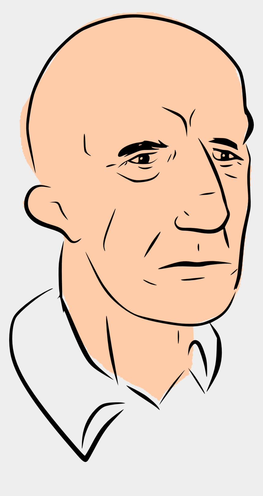bald head clipart, Cartoons - Bald Head Man Clipart