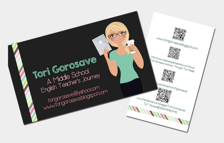 scroll header clipart, Cartoons - This Website Features An Interactive Header With Clickable - Middle School Teacher Business Cards