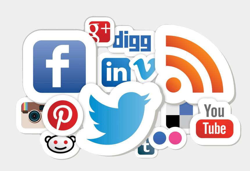free social media clipart, Cartoons - Social Media Png Transparent Images - Social Media Images Png