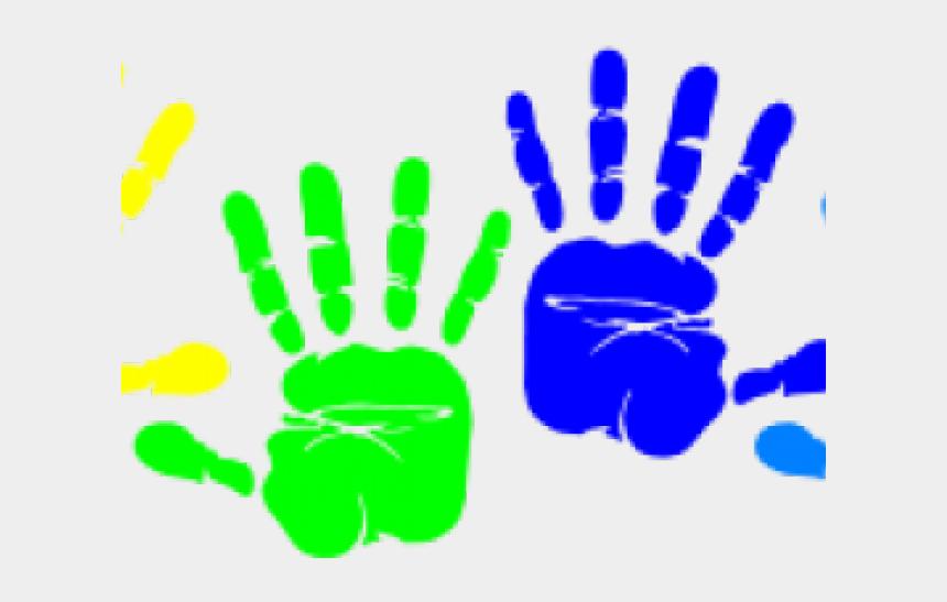 child handprint clipart, Cartoons - Handprint Transparent Small - Colorful Hand Prints Clipart