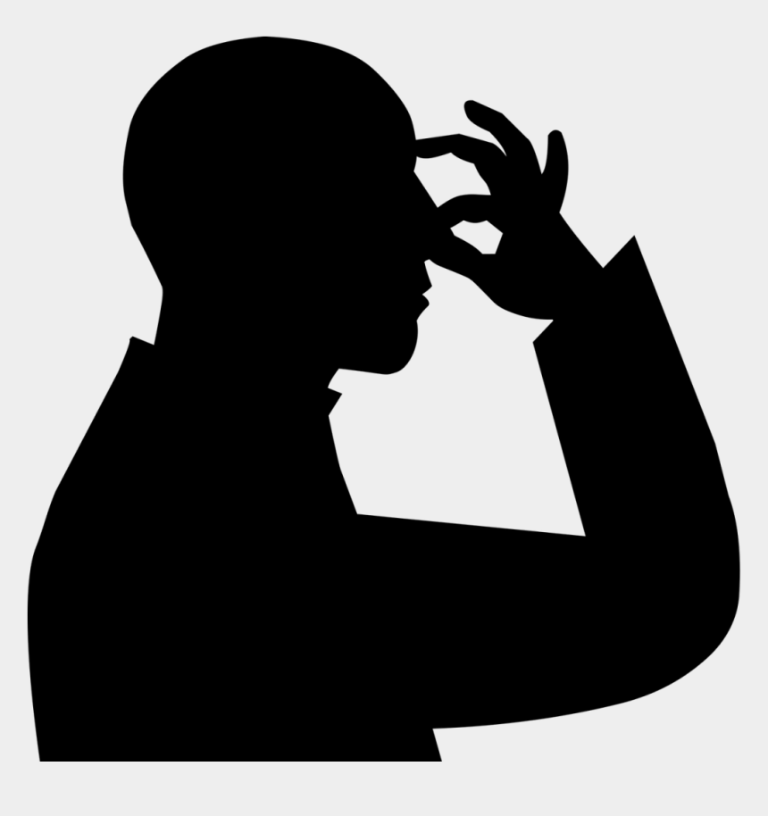 person sneezing clipart, Cartoons - Putting Makeup Silhouette