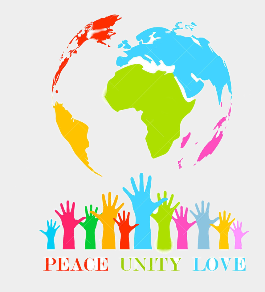 peace and love clipart, Cartoons - Peace, Unity, Love - High Resolution World Map Vector
