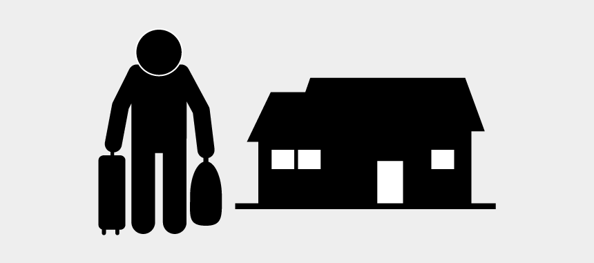 leaving home clipart, Cartoons - School And Study - Leaving Home Pictogram