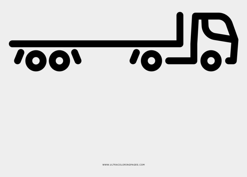 Flatbed Semi-trailer Truck Coloring Page, Cliparts ...