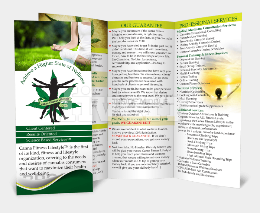 tri fold brochure clipart, Cartoons - Big Worksample Image - Flyer