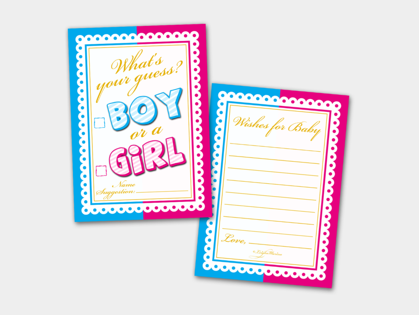 boy and girl writing clipart, Cartoons - Baby Shower Cards What's Your Guess Boy Or A Girl - Baby Shower Boy Or Girl Cards