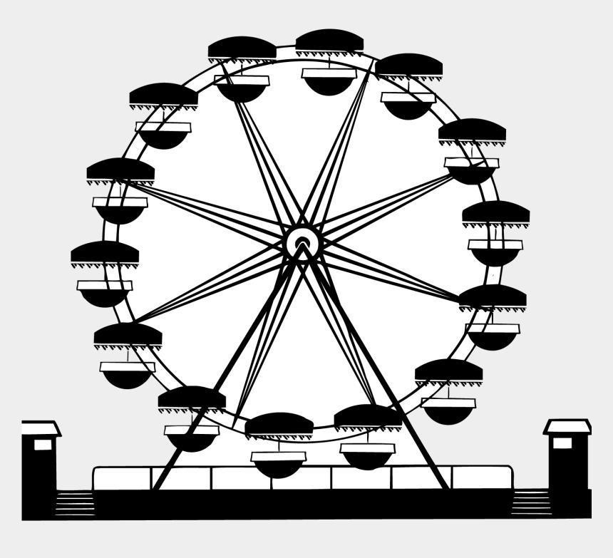 amusement park clipart, Cartoons - Car Wagon Clip Art Black Silhouette Fresh - Roda Gigante Silhueta Png