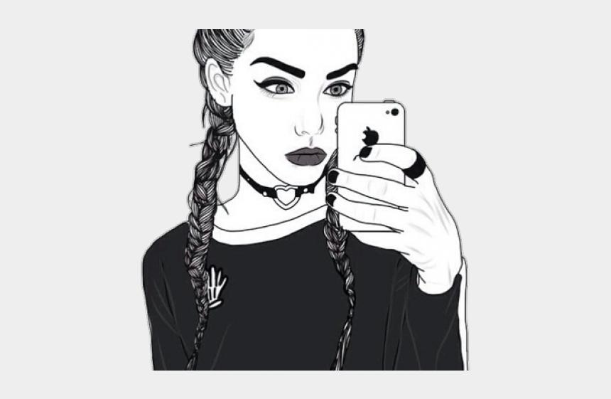 selfie clipart, Cartoons - Nice Drawing Of Girls