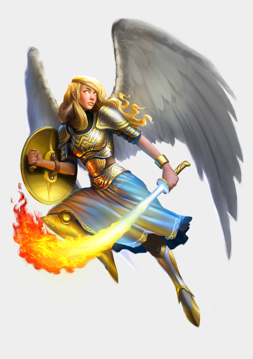 warrior clipart, Cartoons - Angel Warrior Clipart Animated - Warrior Angel Png