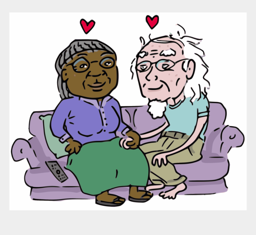 grandparents day clipart, Cartoons - Clip Arts Related To - Get Old Together Clipart
