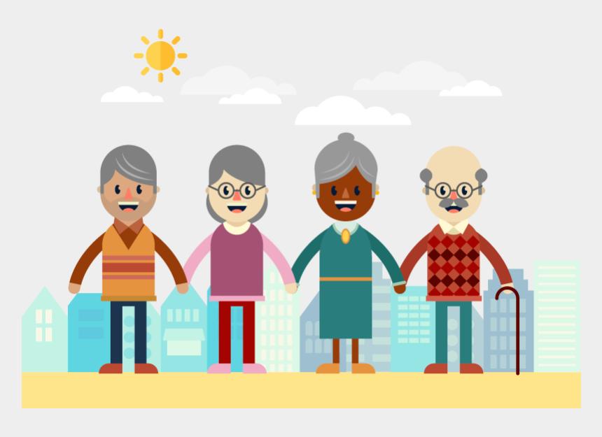 grandparents day clipart, Cartoons - Grandparent Clipart Elderly - Old People Flat Design