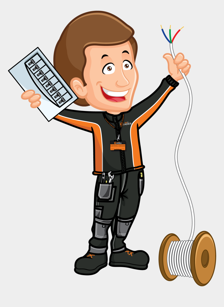 engineering clipart, Cartoons - Electrical Services Trades Offers Plumbing Electrics - Clip Art Electrical Engineer