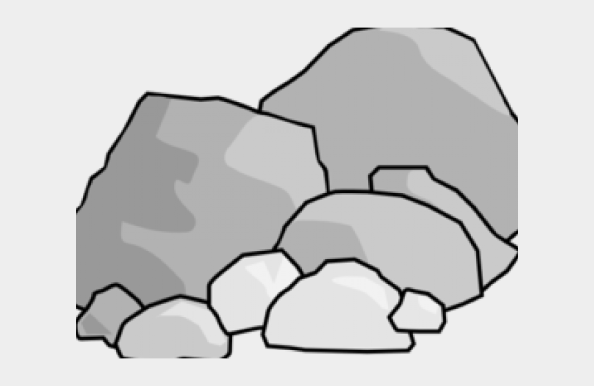 rocks clipart, Cartoons - Rock Clipart Black And White - Clipart Rocks