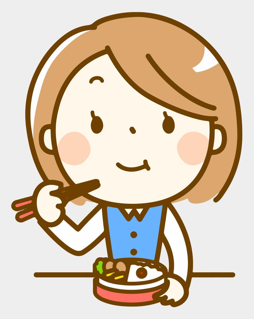 eat clipart, Cartoons - Woman Eating Bento - Okay Kid Clipart