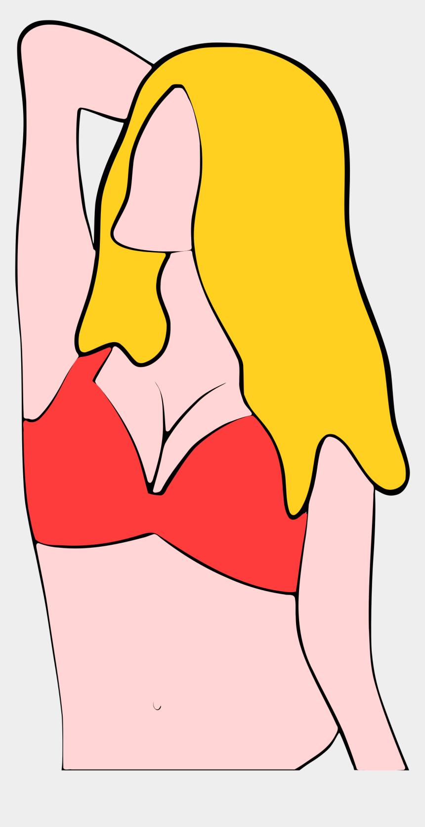 underwear clipart, Cartoons - Torso In Bikini Ⓒ - Portable Network Graphics