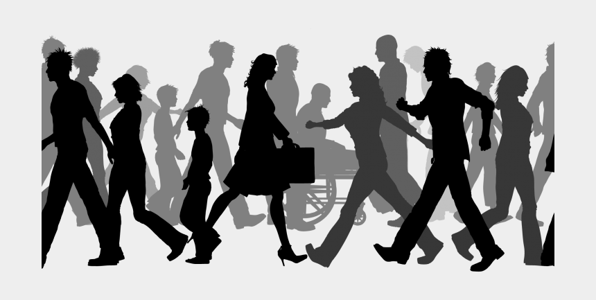 crowd of people clipart, Cartoons - Silhouette Person Transprent Png - Walking Silhouette Transparent Background