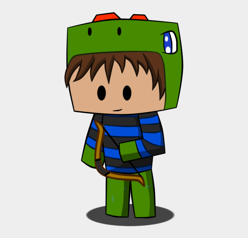 minecraft clip art, Cartoons - Minecraft Clipart Black And White - Minecraft Chibi Png