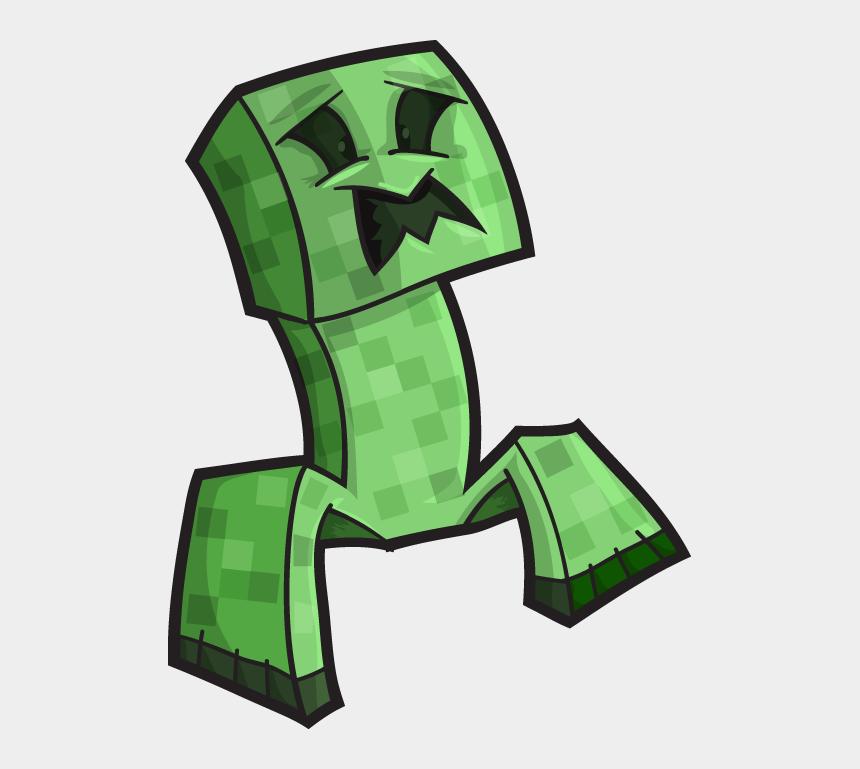 minecraft clip art, Cartoons - Minecraft Creeper Art Png